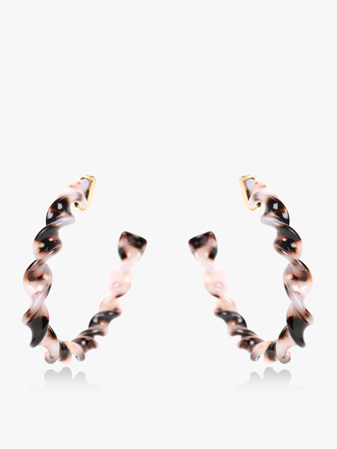 Style Fiesta Multi Resin Twisted Hoops 1