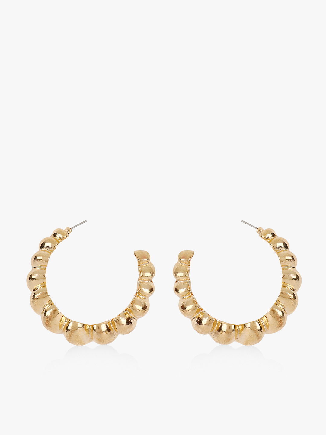 Style Fiesta Gold Twisted Half Circle Hoops 1