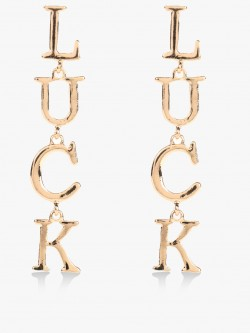 Style Fiesta Luck Text Detail Earrings