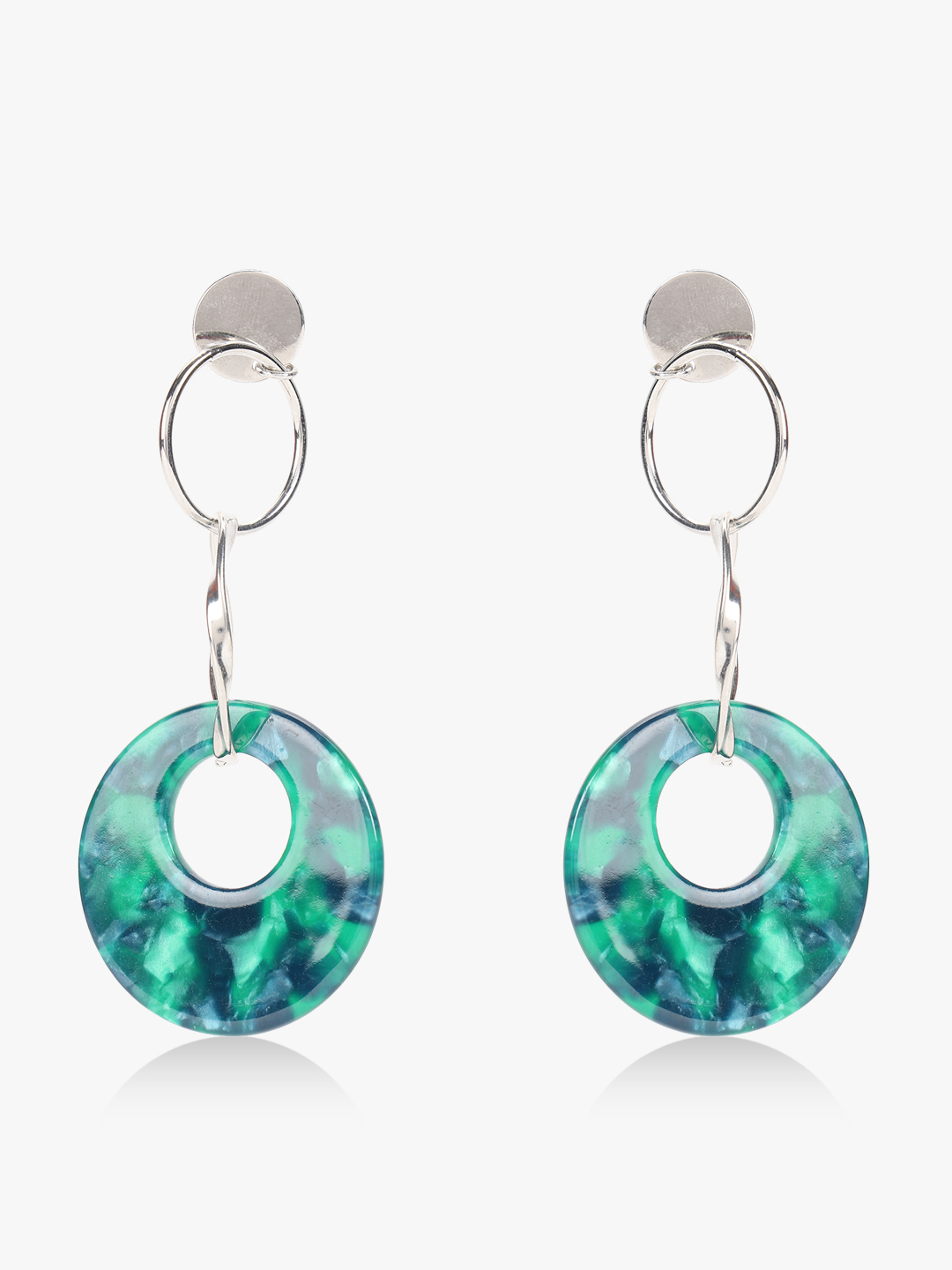 Style Fiesta Multi Marble Effect Drop Earrings 1