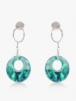 Style Fiesta Marble Effect Drop Earrings