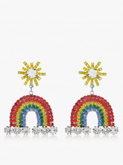 Style Fiesta Rainbow Embellished Earrings