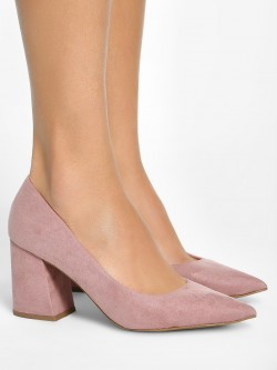 New Look Suede Flared Heel Pumps