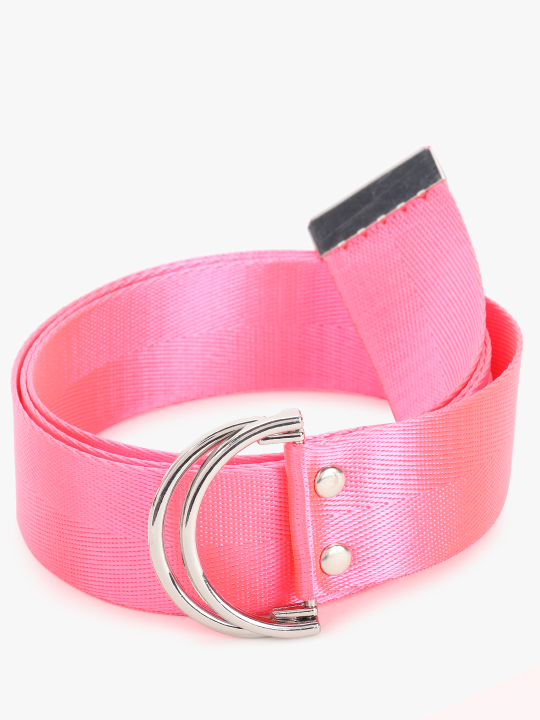 New Look Pink Webbed Belt 1