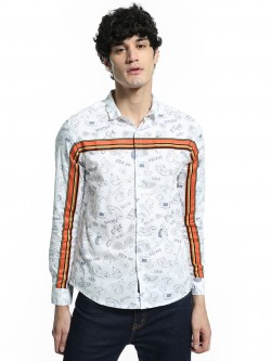 KOOVS Skate Sticker Print Shirt