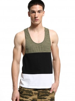 KOOVS Colour Block Racerback Vest