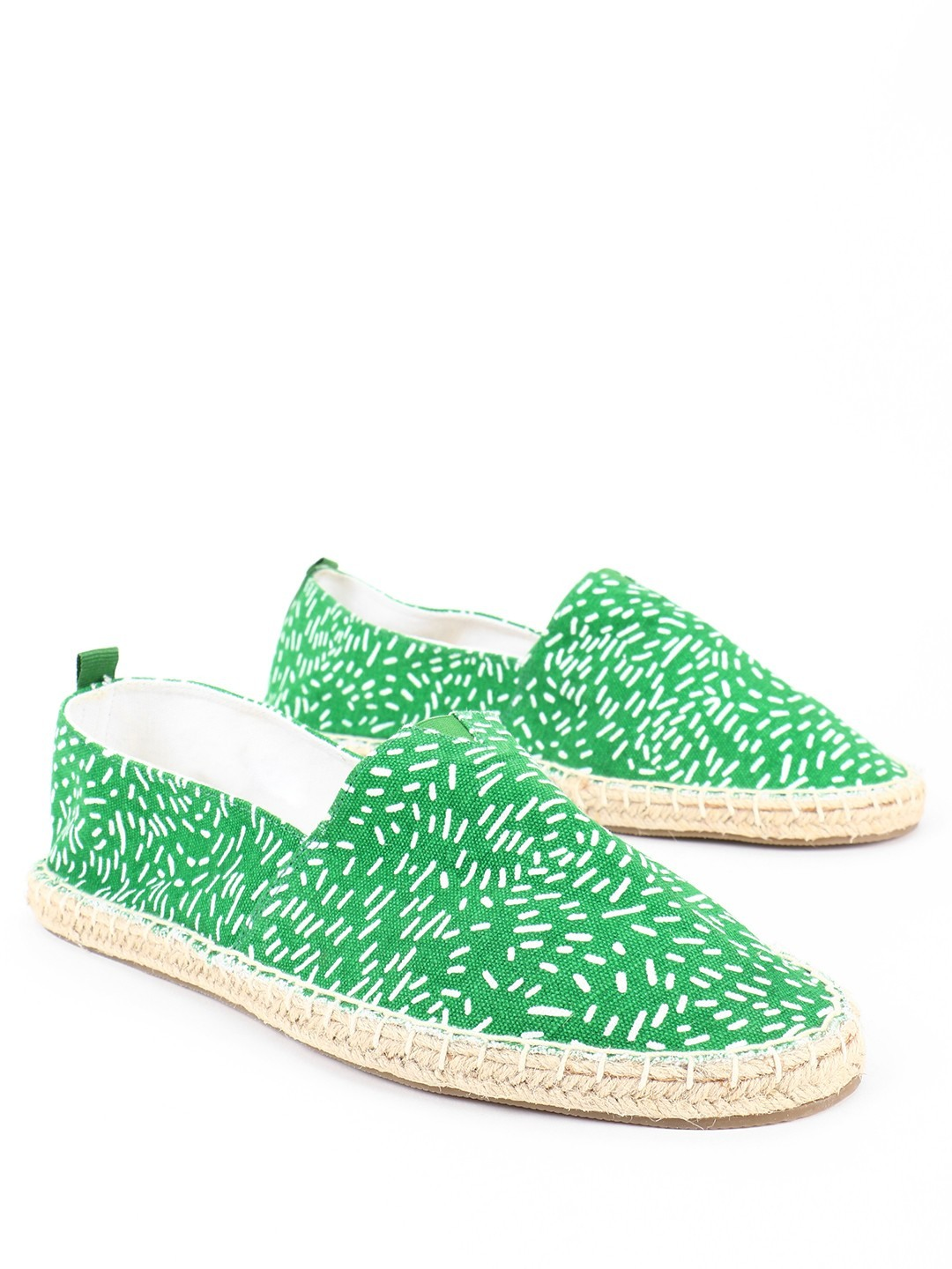 KOOVS Green All Over Print Original Espadrilles 1