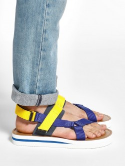KOOVS Colour Block Double Strap Sandals