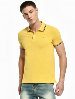 Celio Tipped Stripe Collar Polo Shirt