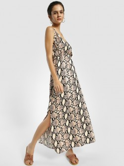 Femella Snake Print Strappy Maxi Dress