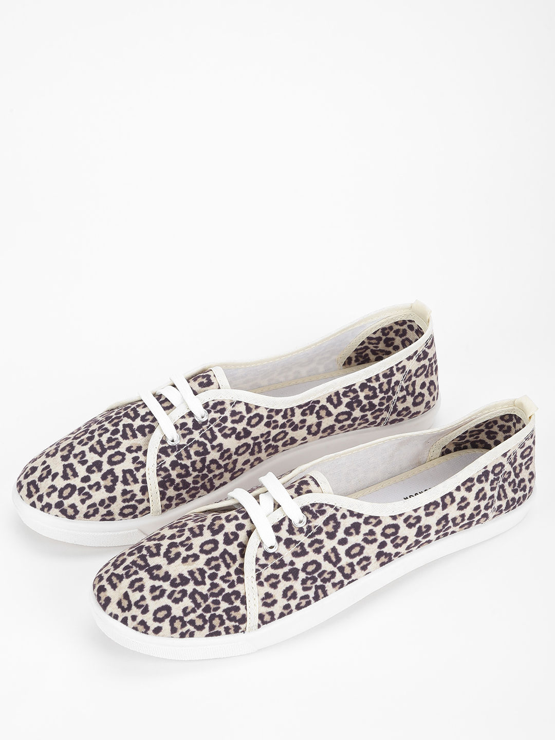 KOOVS Multi Leopard Print Plimsoll Shoes 1