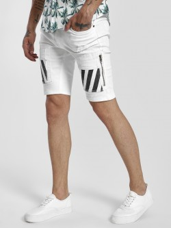 Kultprit Stripe Cargo Pocket Denim Shorts