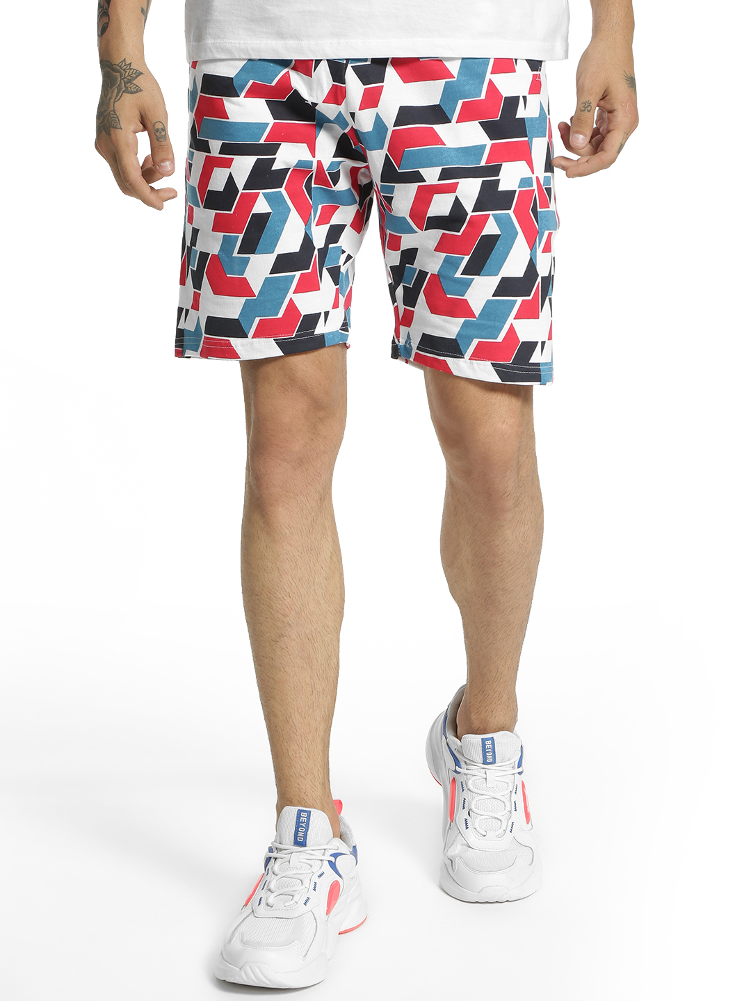 Fighting Fame Multi Colour Block Jersey Shorts 1