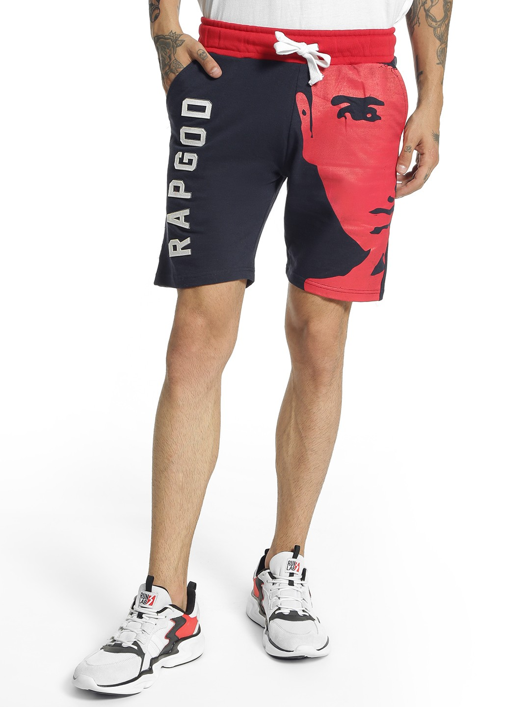 Fighting Fame Multi Rapgod Placement Print Shorts 1