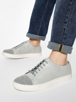 YOHO Suede Toe Leather Sneakers