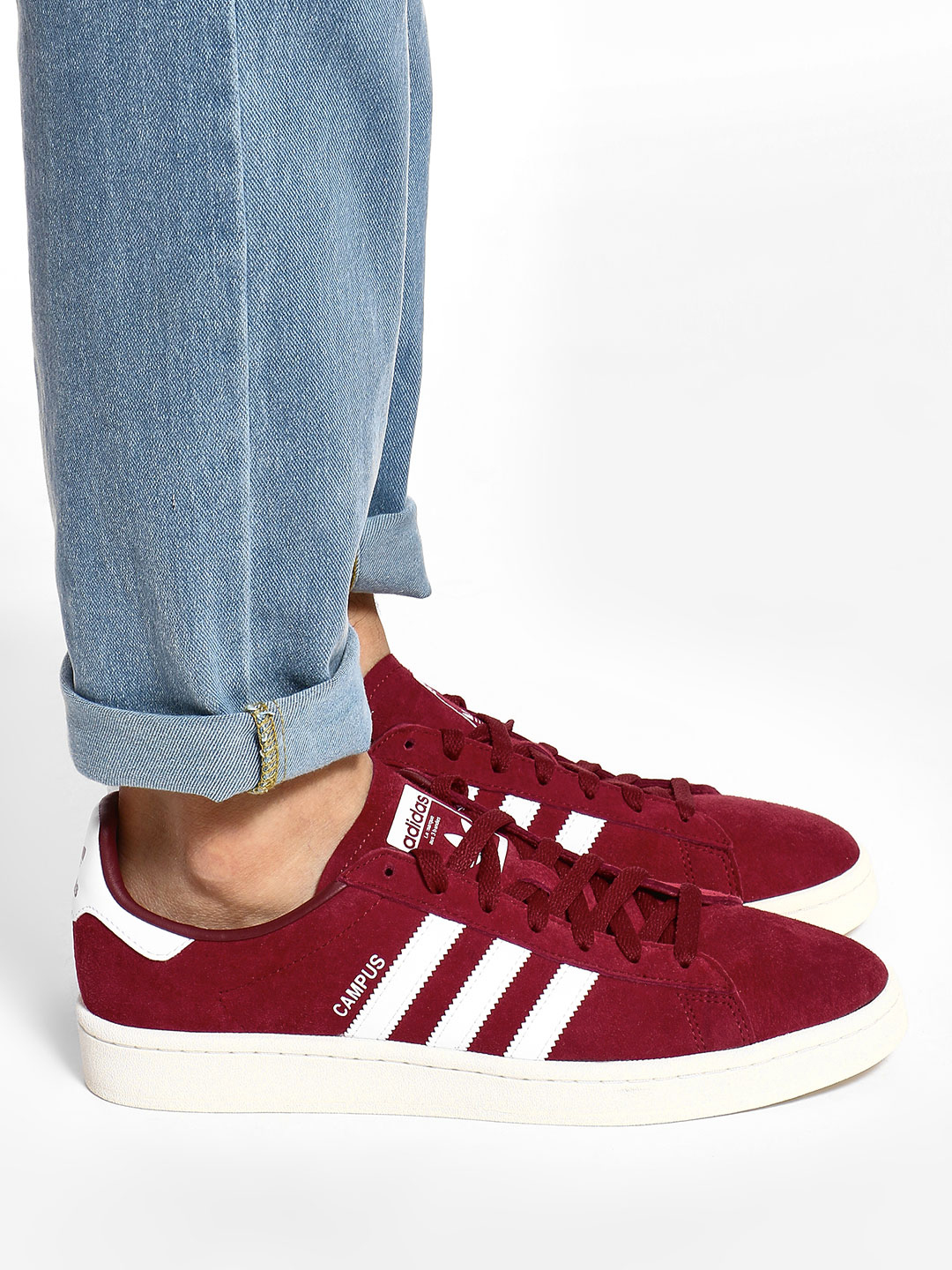 Adidas Originals Red Campus Shoes 1