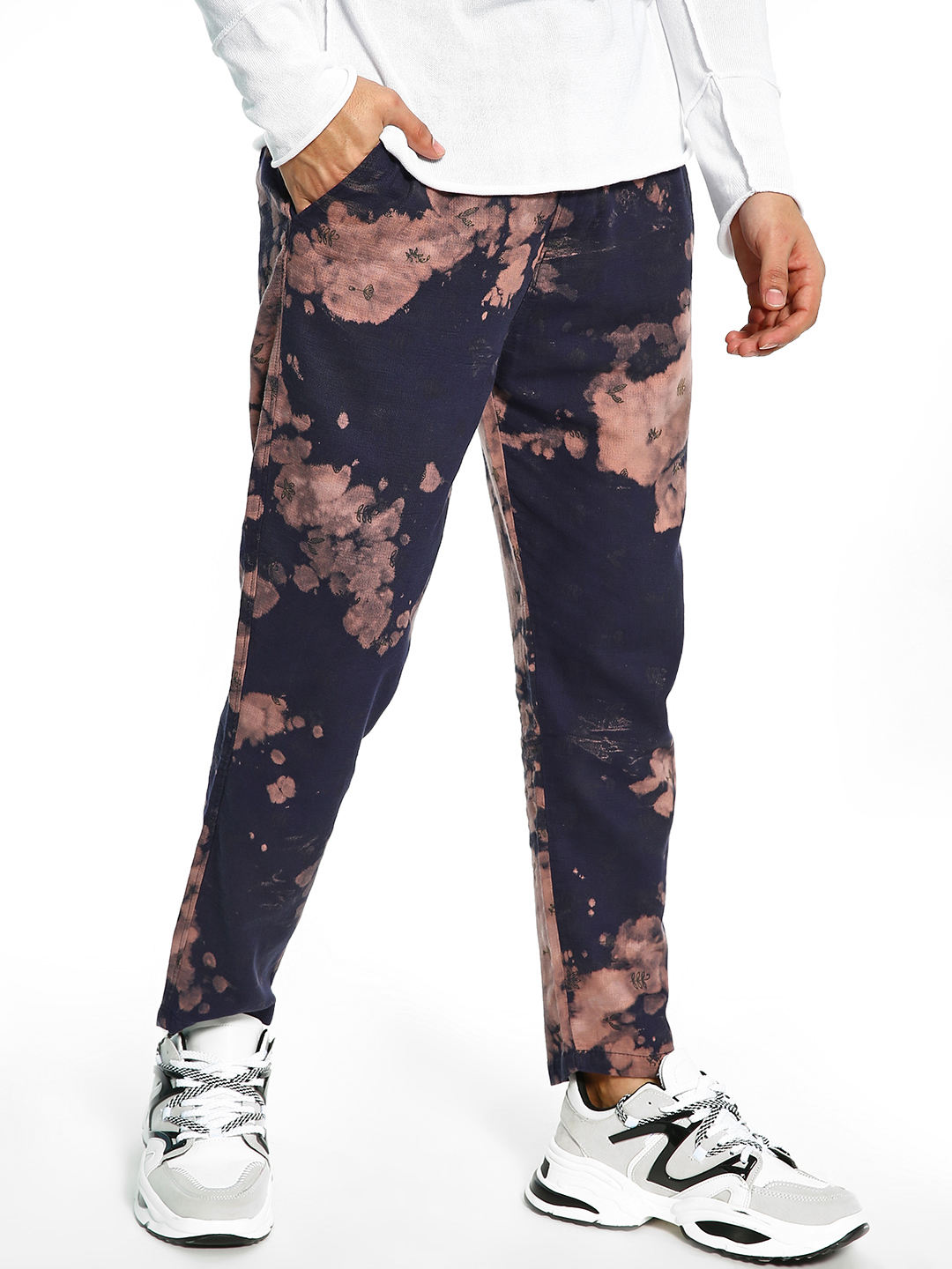 Spring Break Multi Tie-Dye Print Slim Trousers 1