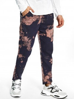 Spring Break Tie-Dye Print Slim Trousers