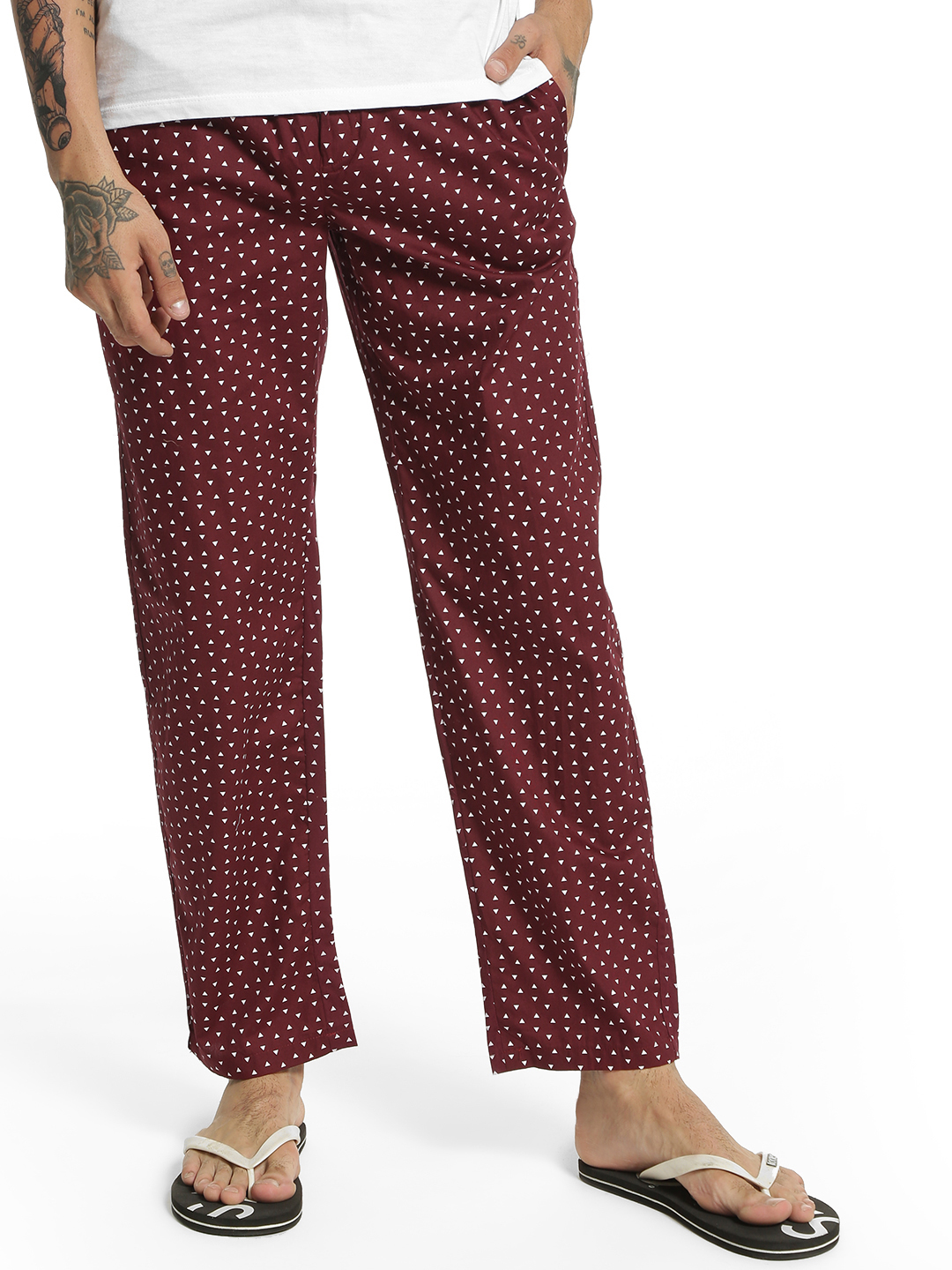 Urban Hug Multi Triangle Print Lounge Pants 1