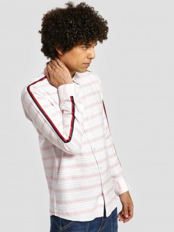 REALM Horizontal Stripe Side Tape Shirt