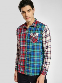 REALM Check Mix Print Pocket Shirt