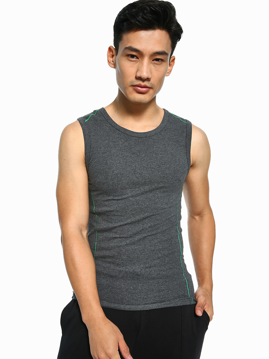 Jack & Jones Grey Classic Knitted Vest 1