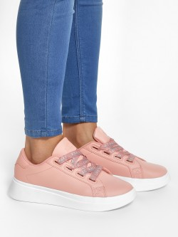 Peak Text Print Lace-Up Shoes