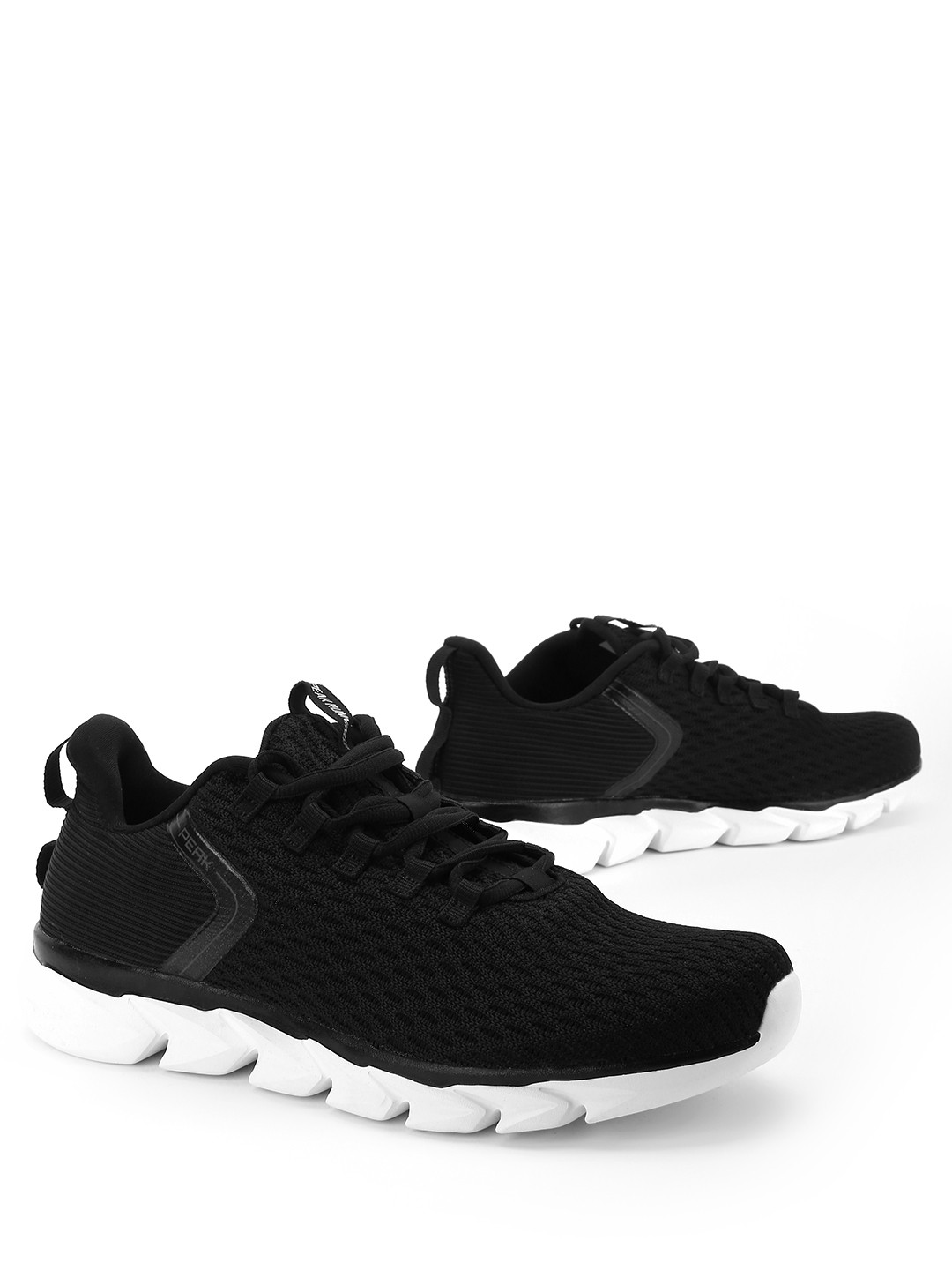 Peak Black Double Knit Running Shoes 1