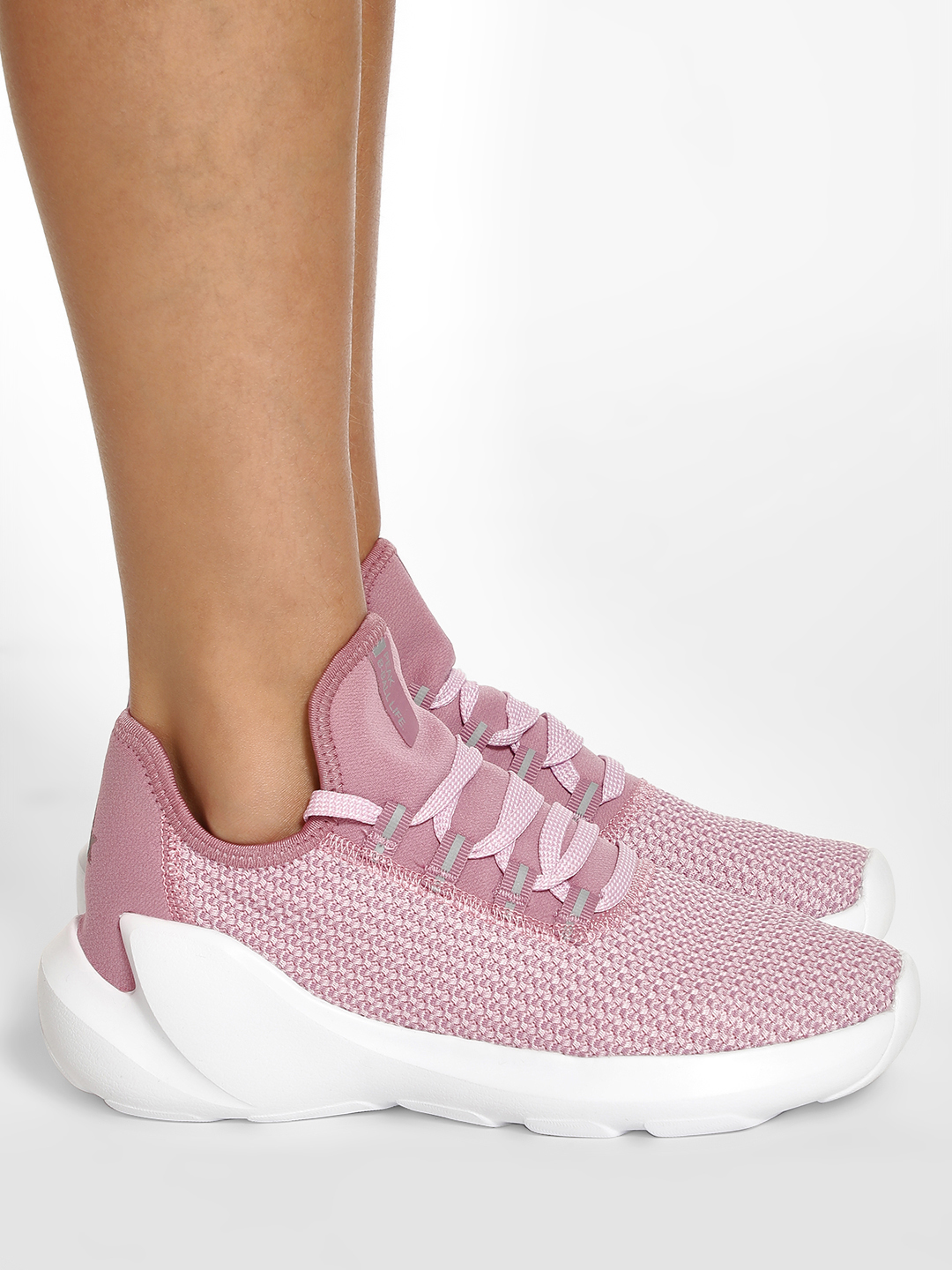 Peak Purple Knitted Chunky Sole Basketball Shoes 1