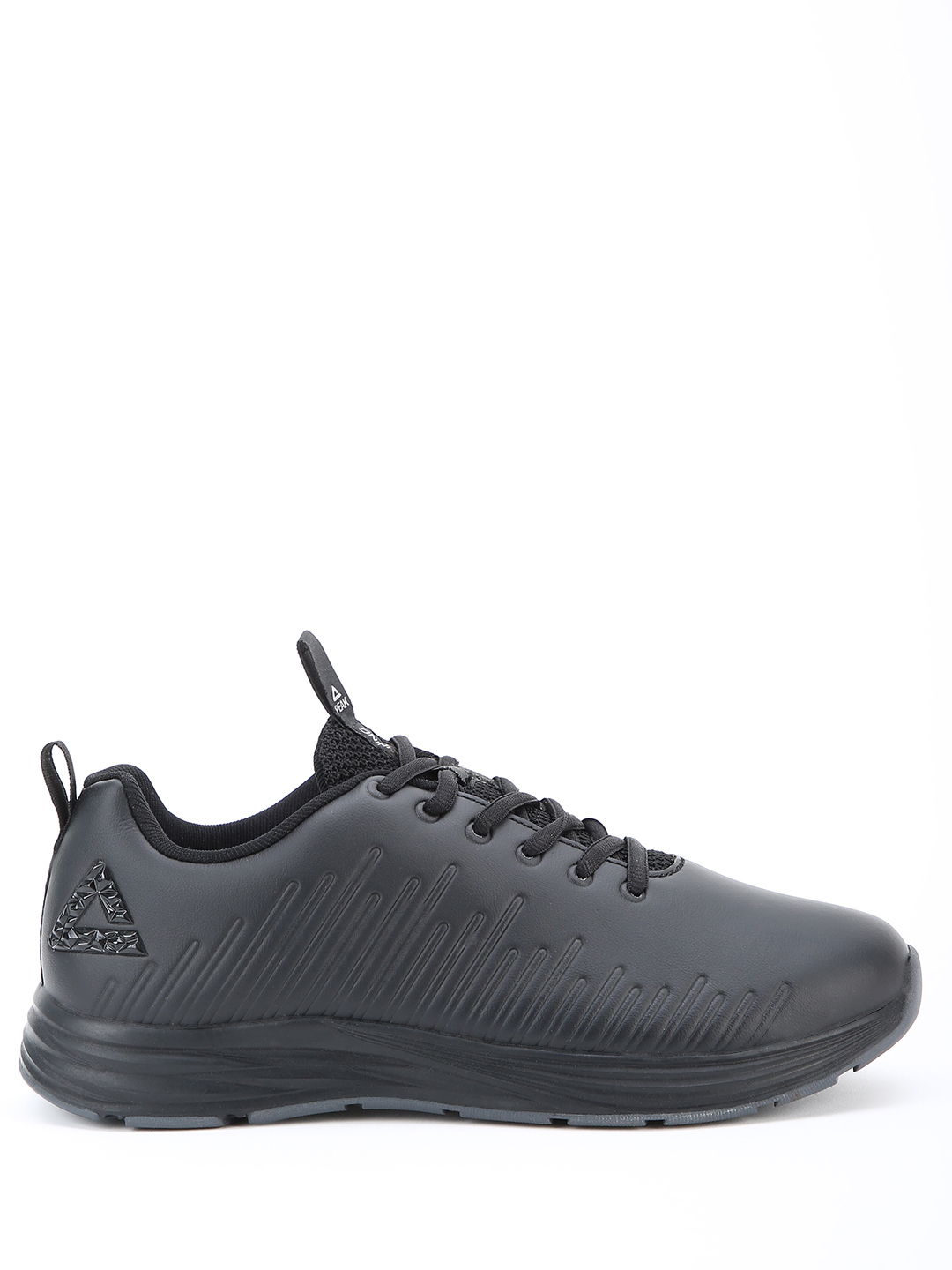 Peak Black Side Stripe Panel Running Shoes 1