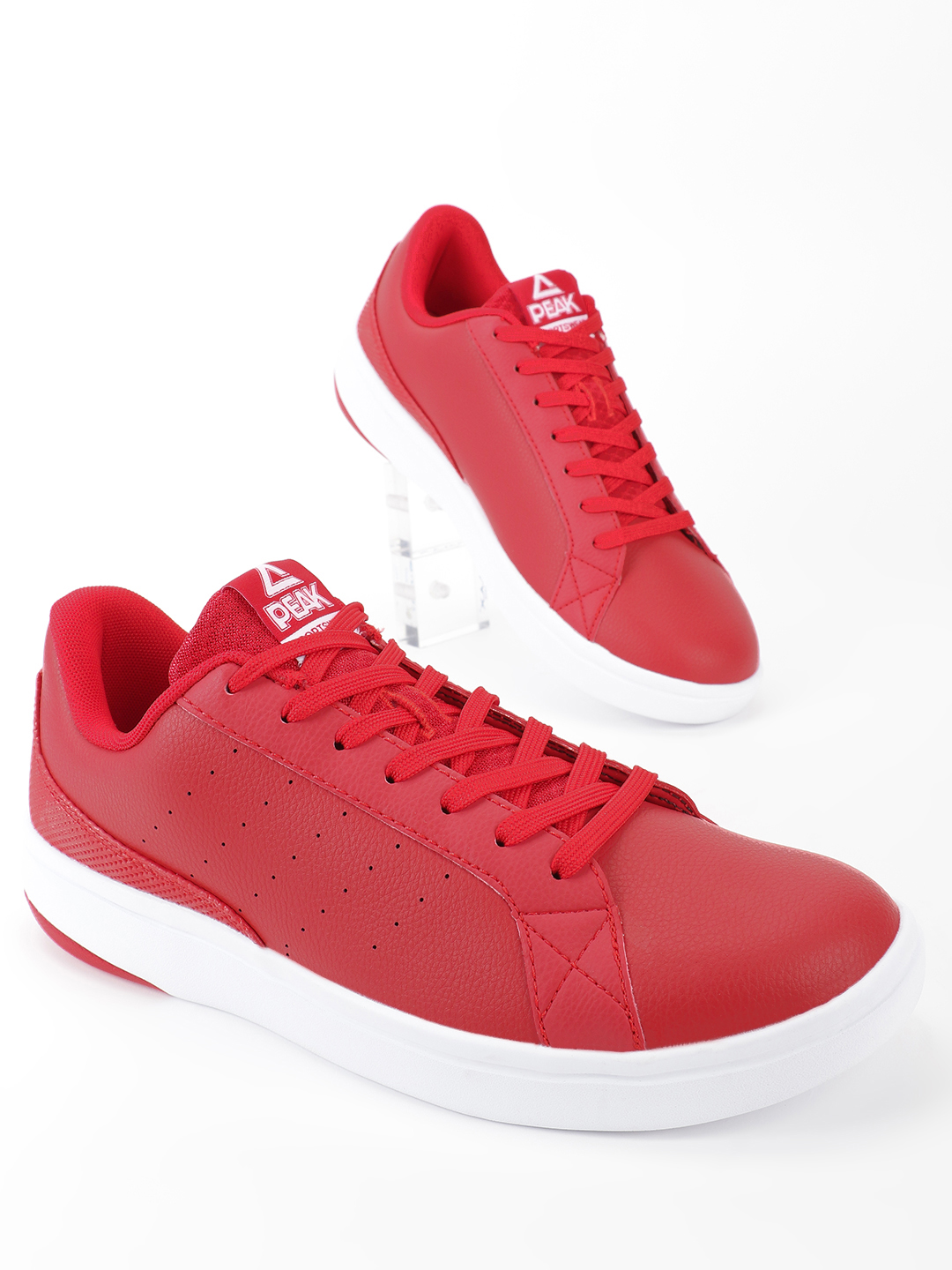 Peak Red Contrast Sole Lace-Up Shoes 1