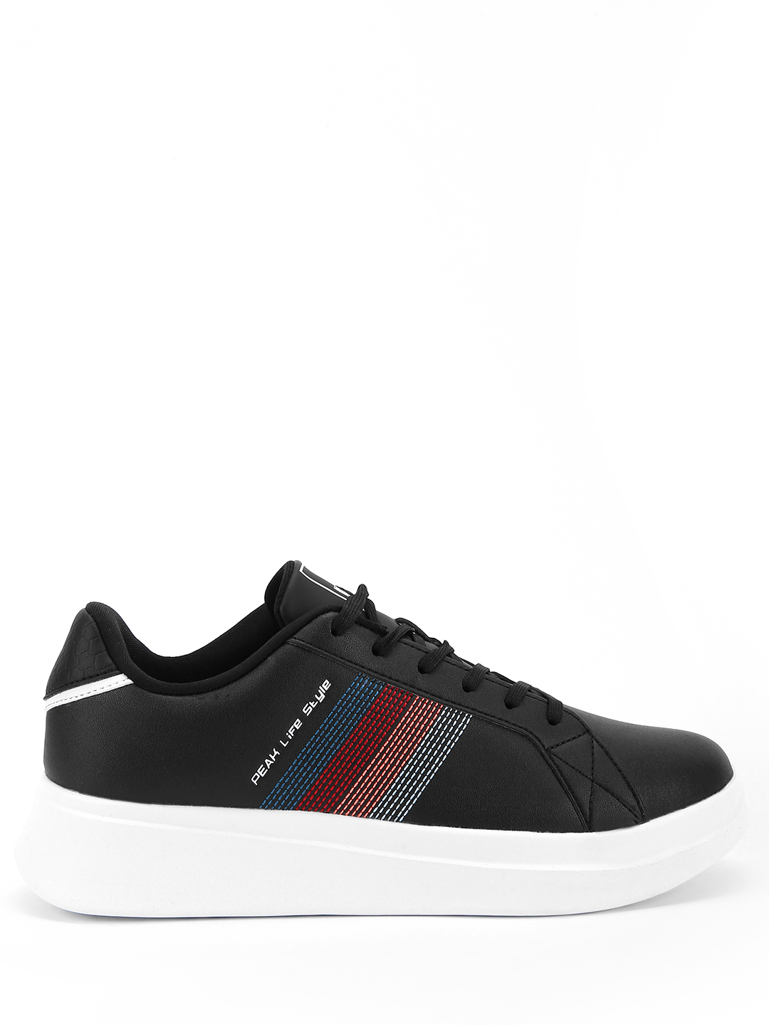 Peak Black Multi Colour Knitted Panel Sneakers 1