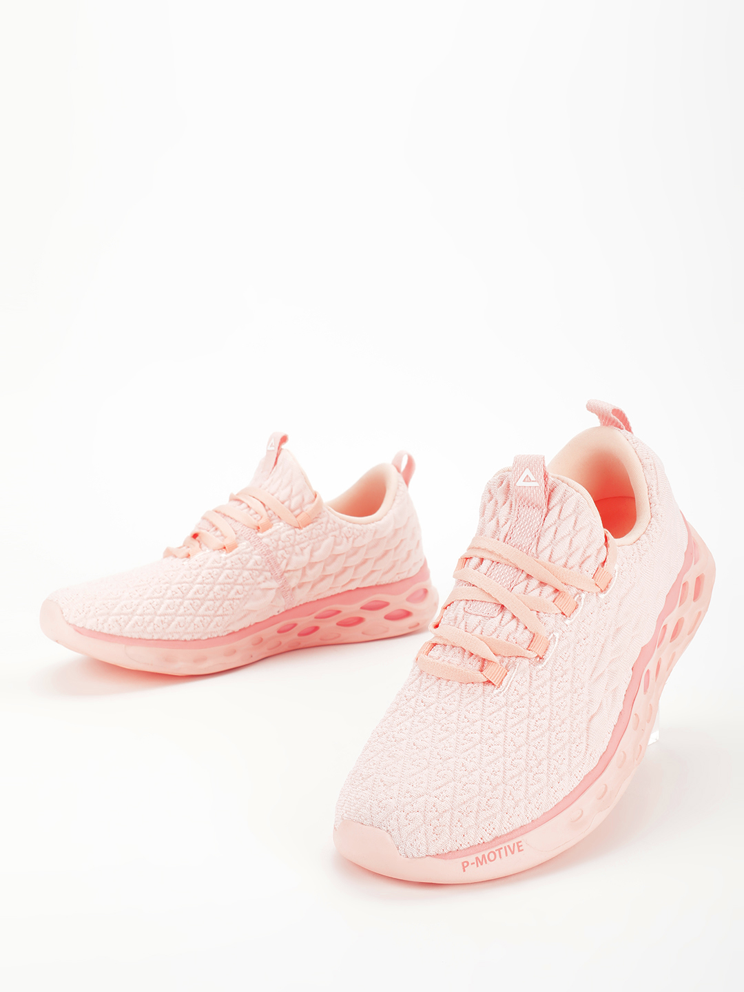 Peak Pink Cushion Knitted Running Shoes 1