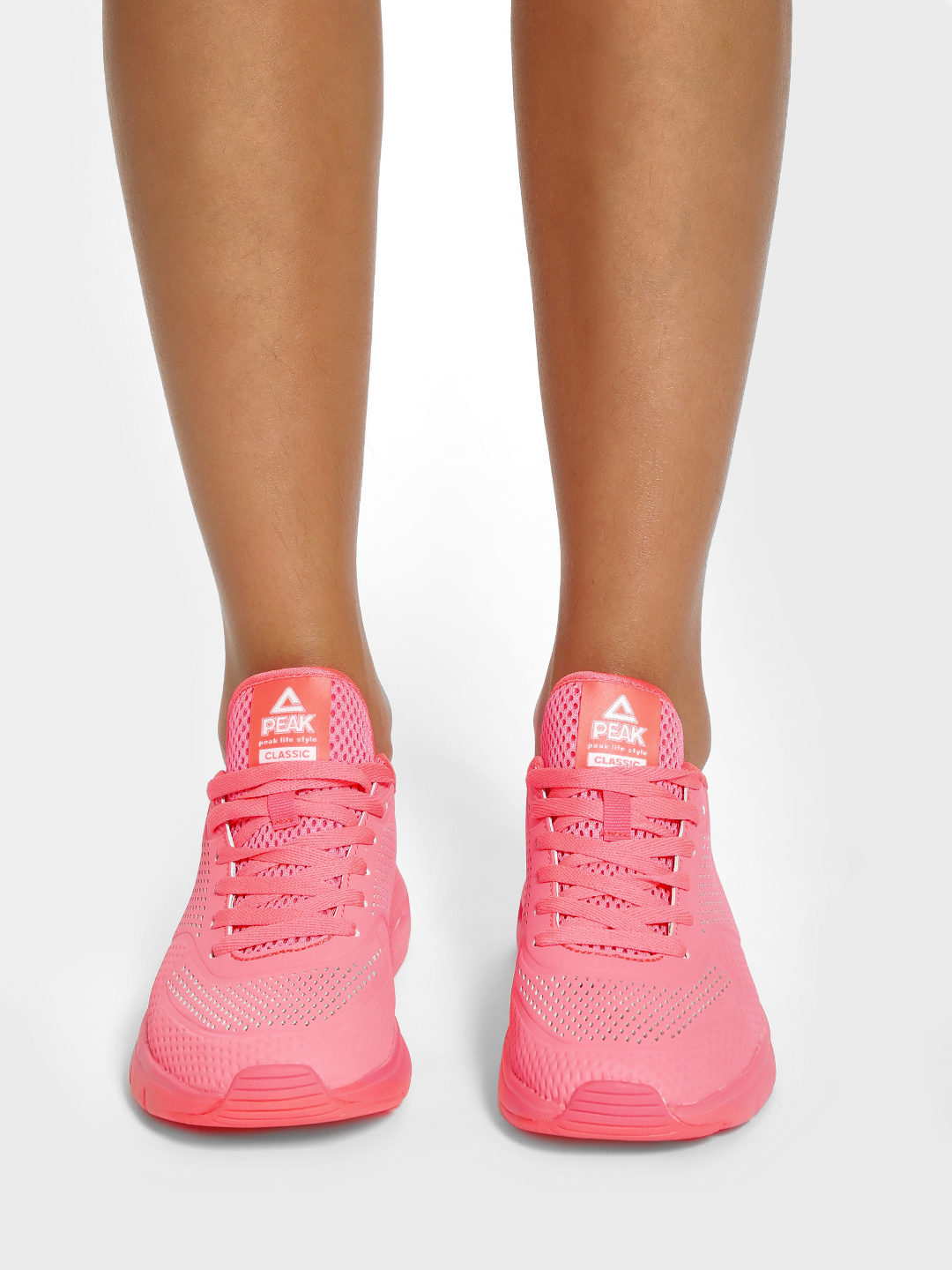 Peak Pink Perforated Running Shoes 1