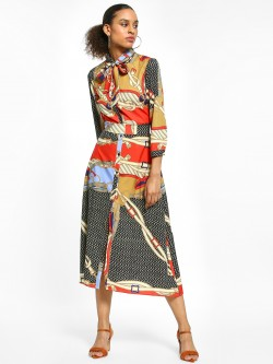 EmmaCloth Mixed Print Shirt Dress