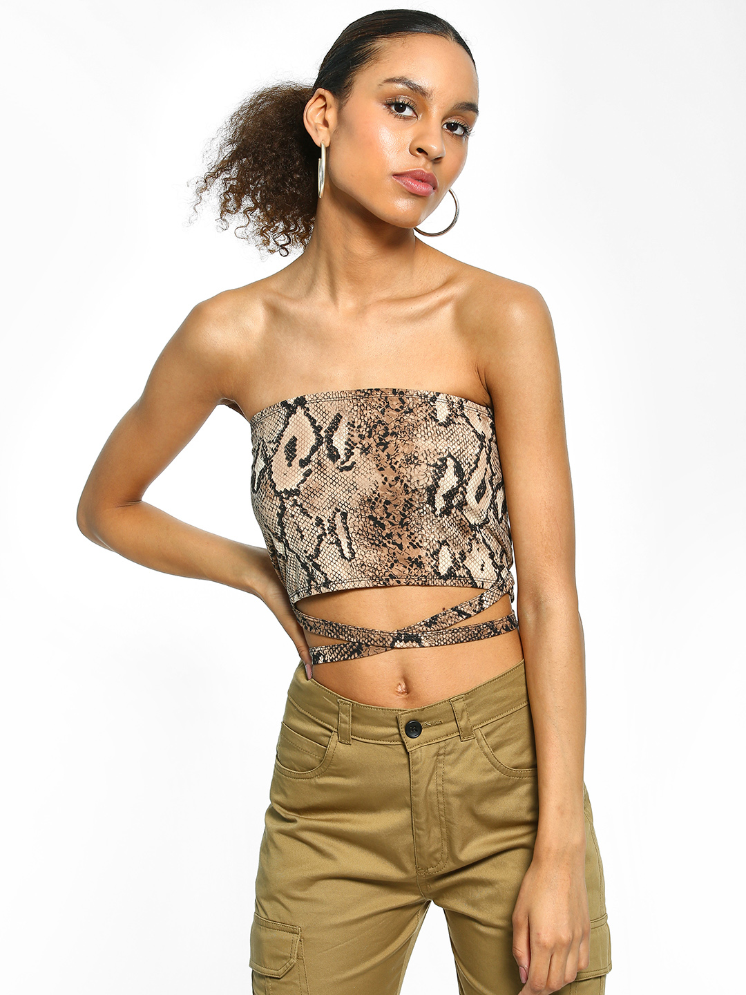EmmaCloth Multi Snake Print Tube Top 1