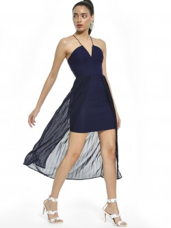 Rare London Pleated Layered Bodycon Dress