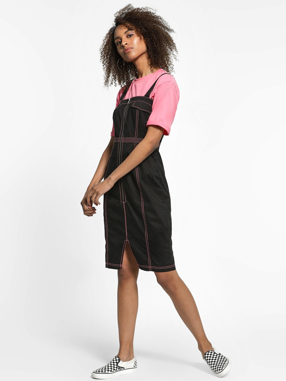 KOOVS Black Utility Shift Dress 1