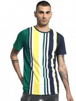 Adamo London Multi Vertical Stripe T-Shirt