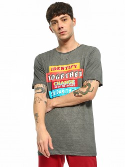 Adamo London Slogan Placement Print T-Shirt