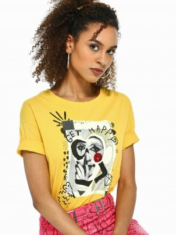 UMM Celebrity Placement Print Embellished T-Shirt