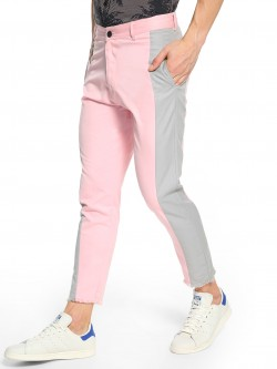 KOOVS Contrast Side Panel Cropped Chinos