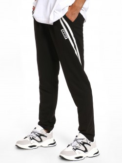 SKULT By Shahid Kapoor Twin Side Stripe Panelled Joggers