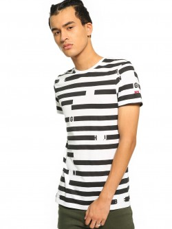 Being Human Logo Horizontal Stripe T-Shirt