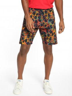 KOOVS Abstract Floral Print Shorts