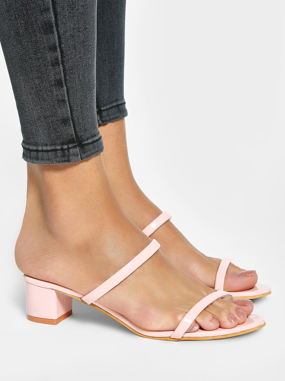 My Foot Couture Pink Low-Rise Heeled Sandals 1