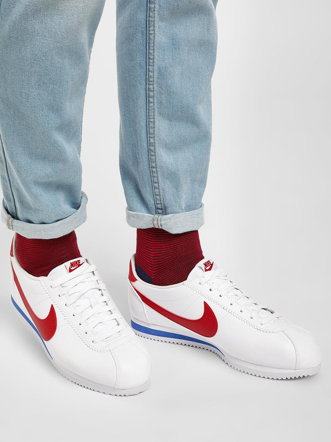 Nike White Classic Cortez Leather Shoes 1