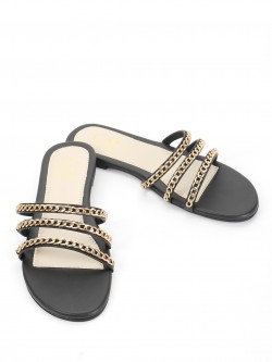 CAi Chain Detail Strap Flat Sandals