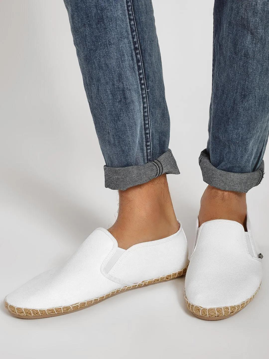 KOOVS White Basic Slip-On Espadrilles 1