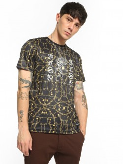 Fighting Fame Baroque Chain Tiger Print T-Shirt